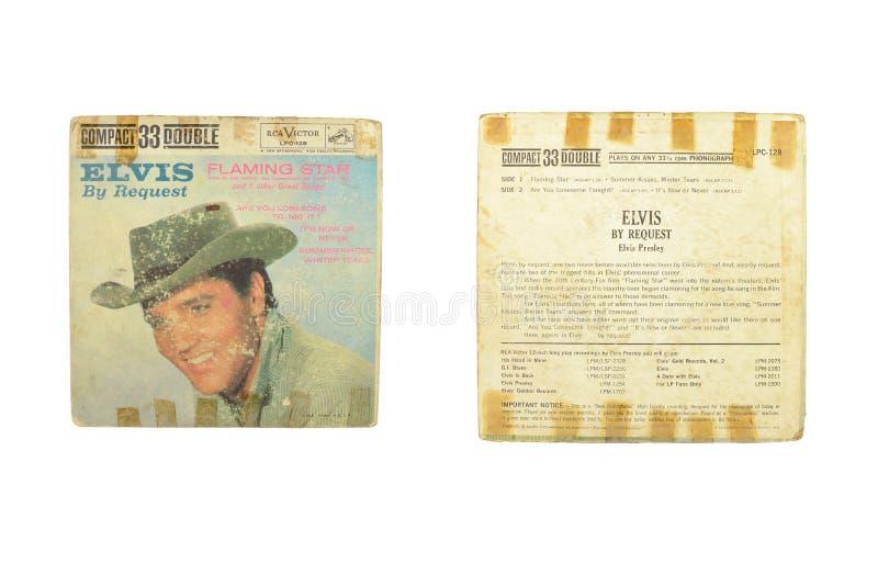 Elvis durch lodernden Stern des Antrags stockfotos