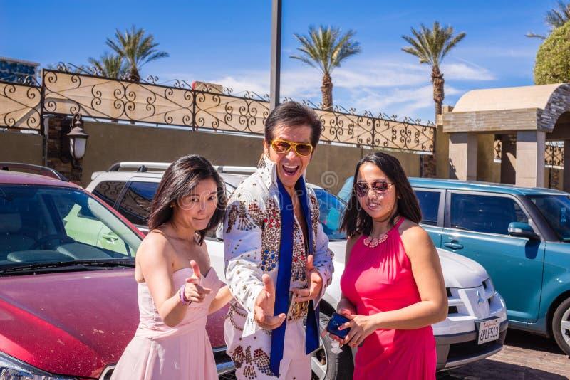 Elvis en Las Vegas fotos de archivo