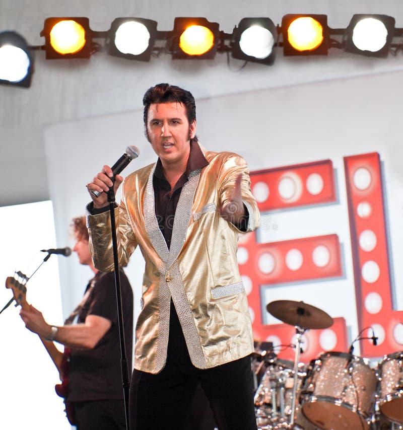 Elvis es vivo imágenes de archivo libres de regalías