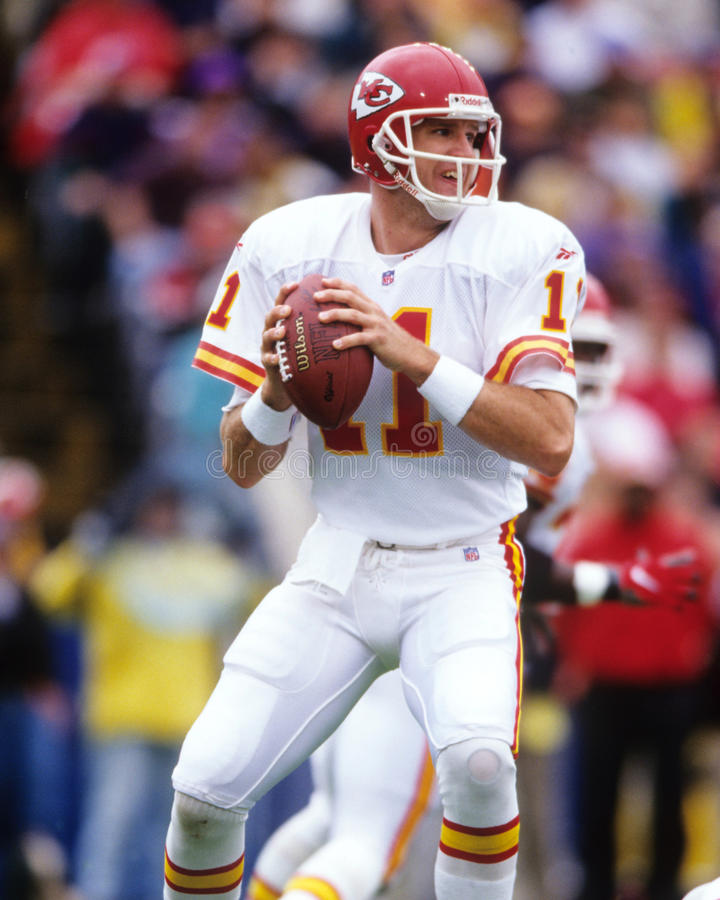 Elvis Grbac. Kansas City Chiefs QB Elvis Grbac. (Image taken from color slide royalty free stock photography