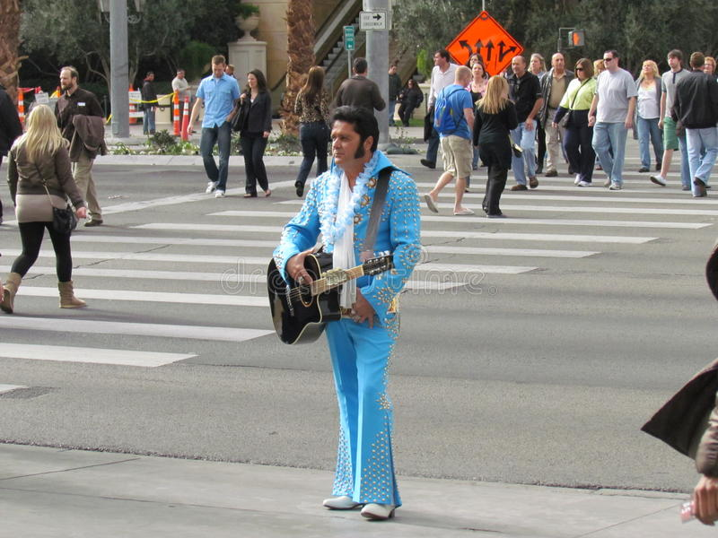 Elvis Impersonator stock photography