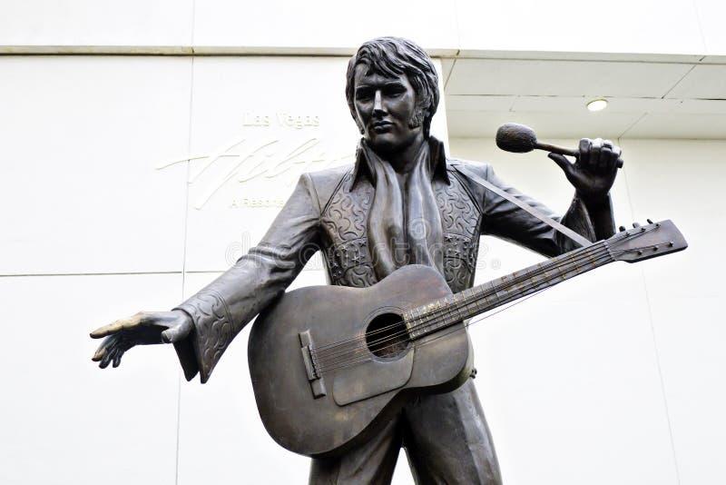 elvis las presley statua Vegas obrazy stock