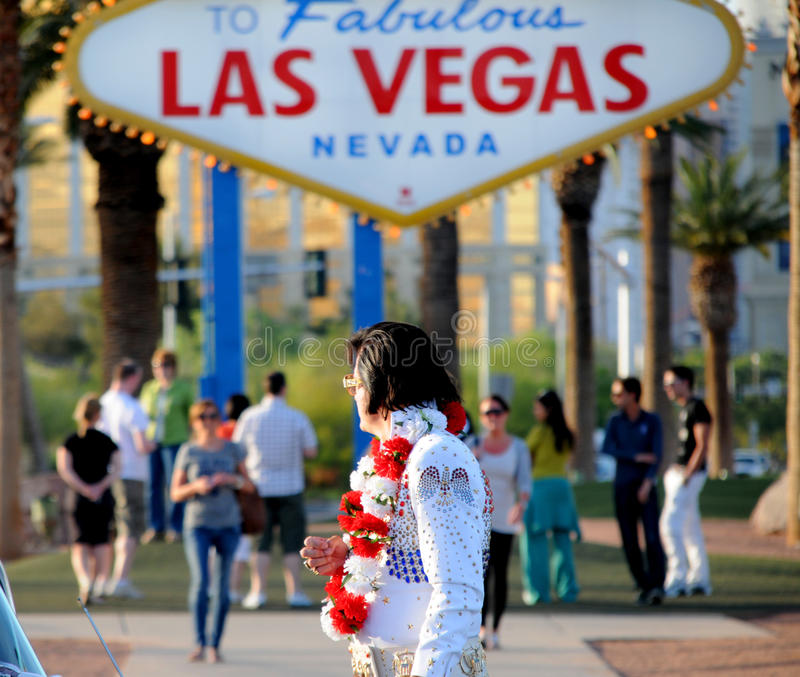 Elvis in Las Vegas royalty-vrije stock foto's
