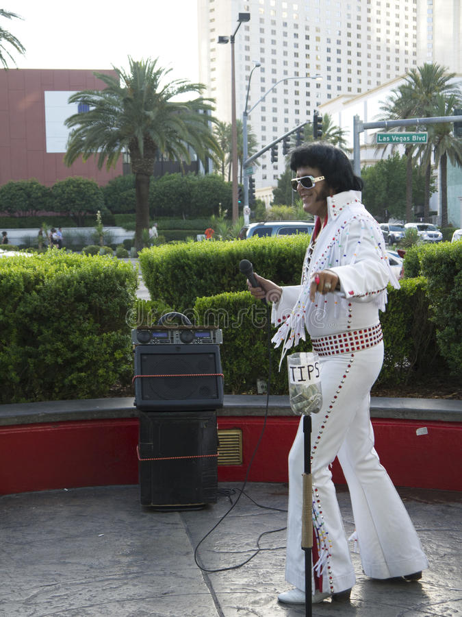 Elvis parodysta w Las Vegas w Nevada usa obrazy stock