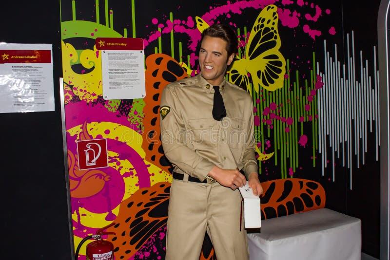 Elvis Prelsey, wosk statua, Madame Tussaud's Muzeum Wiedeń zdjęcie stock