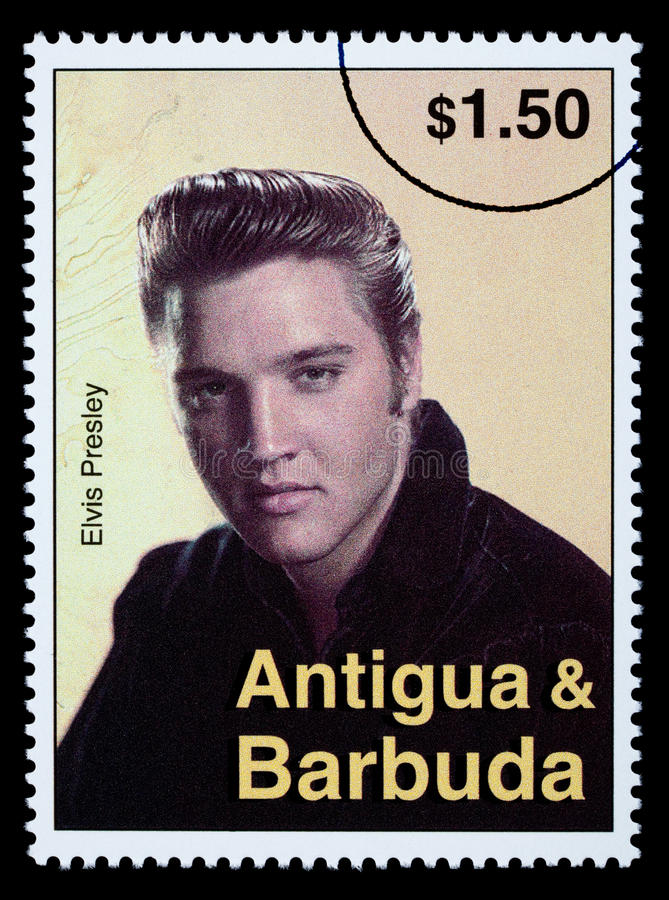 Elvis Presely Postage Stamp stock image