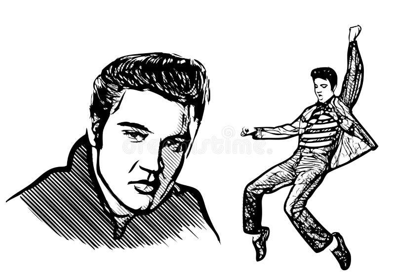 Elvis presley royalty ilustracja