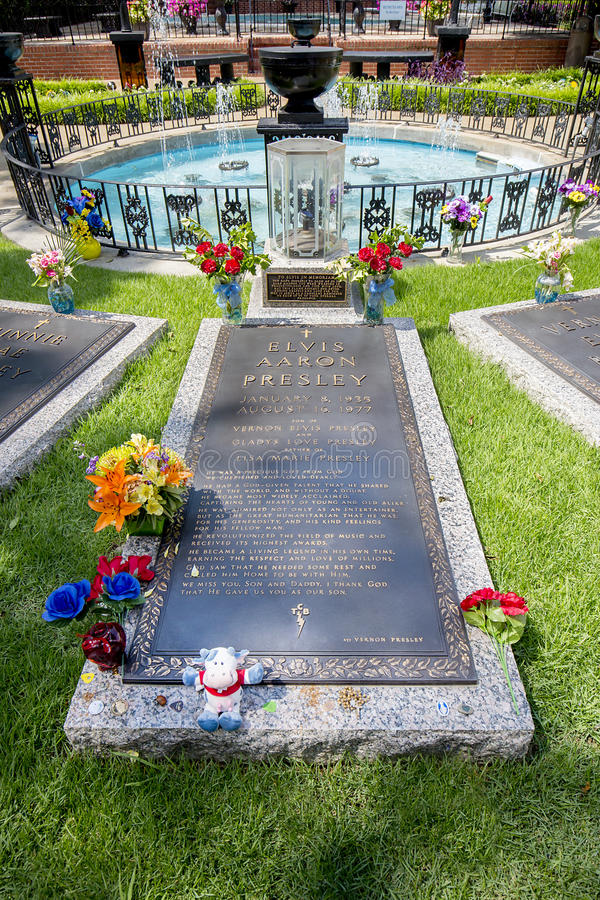 Elvis Presley Burial in Graceland royalty-vrije stock foto
