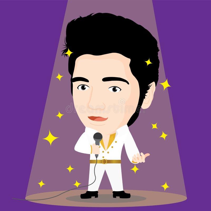 Elvis Presley charakter royalty ilustracja