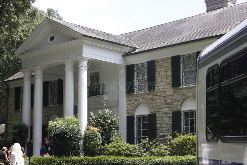 Elvis Presley Graceland Mansion images libres de droits