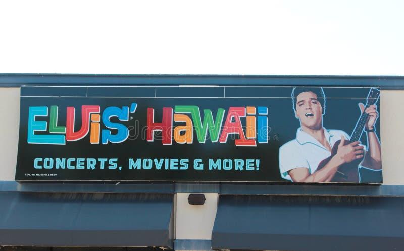 Elvis Presley Hawaii Graceland Concert Sign photographie stock libre de droits