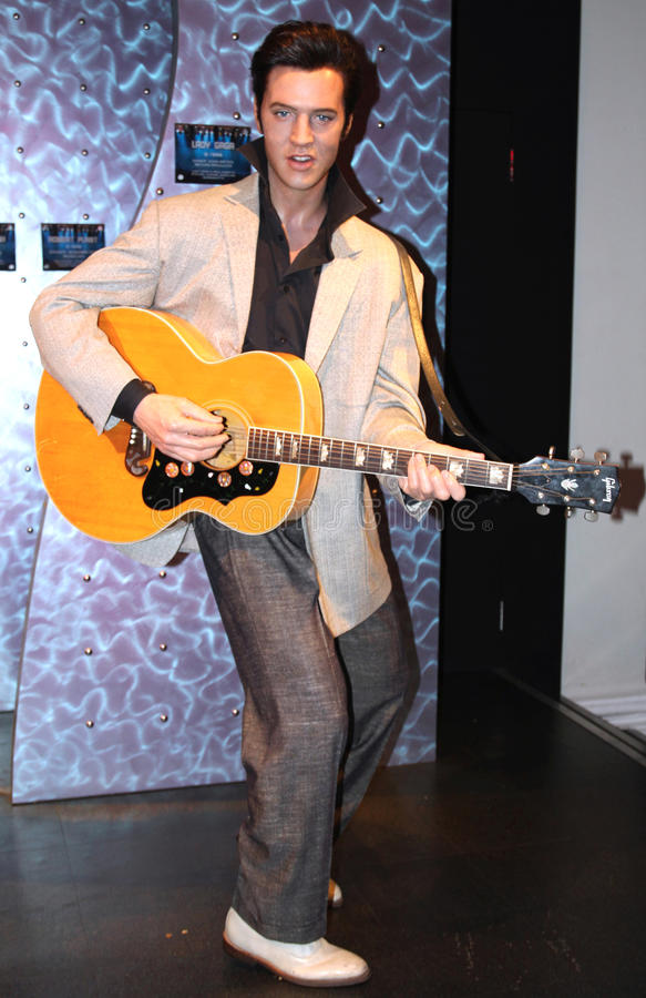 Elvis Presley at Madame Tussaud's stock image
