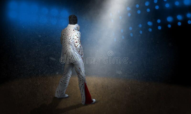 Elvis Presley Music Rock Concert stock de ilustración