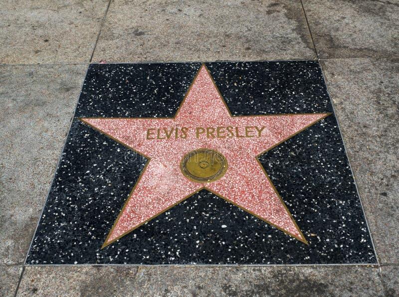 Elvis Presley-` s Stern, Hollywood-Weg des Ruhmes - 11. August 2017 - Hollywood Boulevard, Los Angeles, Kalifornien, CA lizenzfreies stockfoto