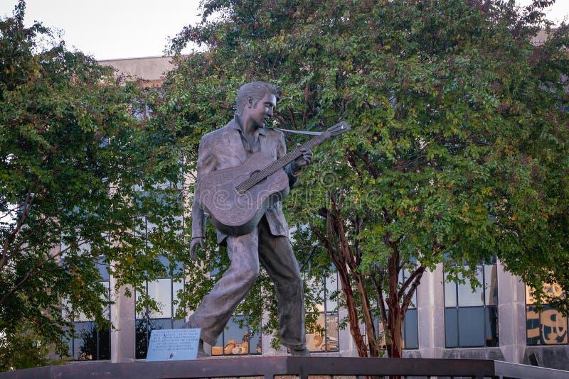 Elvis Presley statua w Memphis zdjęcia royalty free