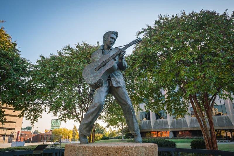 Elvis Presley Statue in Memphis stock afbeeldingen