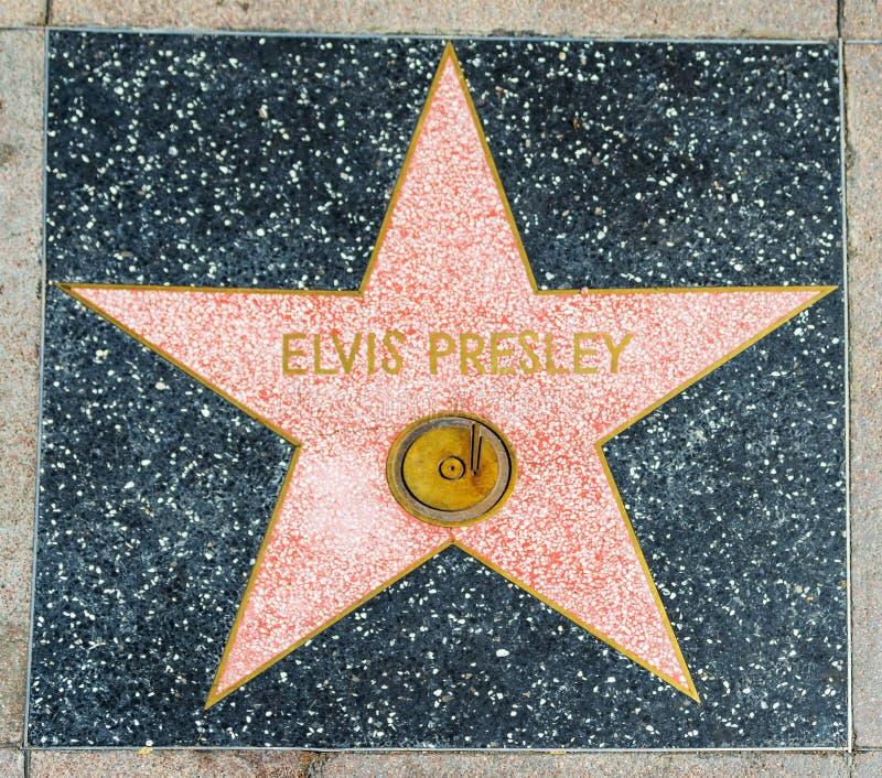 Elvis Presley-ster in Hollywood-gang van bekendheid stock foto's
