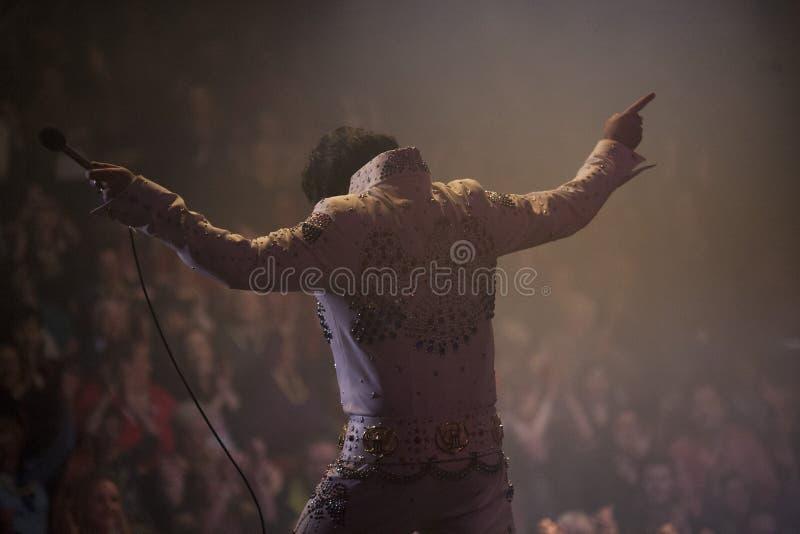 Elvis vert/rideau final 2 images libres de droits
