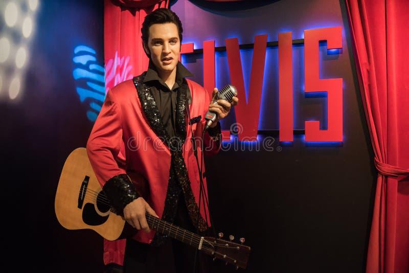 Elvis, wasbeeldhouwwerk, Mevrouw Tussaud royalty-vrije stock foto
