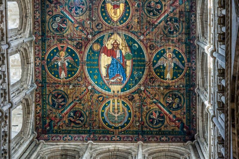 ELY, CAMBRIDGESHIRE/UK - LISTOPAD 22: Wewnętrzny widok Ely Cathedr zdjęcie stock