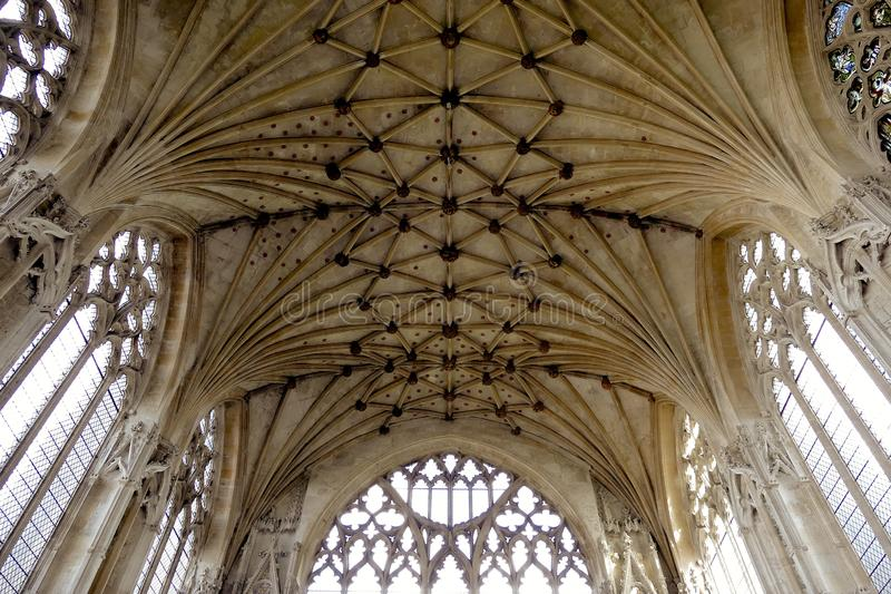 Ely Cathedral Ceilings - Cambridgeshire - England lizenzfreies stockfoto