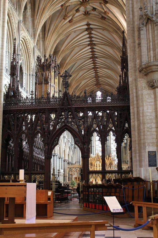 Ely Cathedral interna fotografia stock