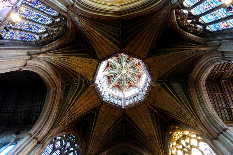 Ely Cathedral oktogon royaltyfri fotografi