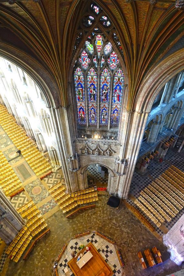 Ely Cathedral oktogon arkivbilder