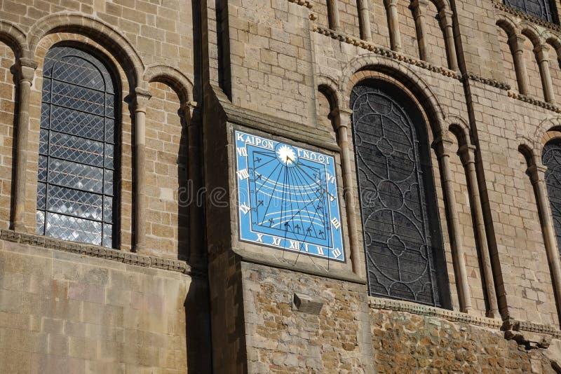 Ely katedra, słoneczny zegar zdjęcia stock