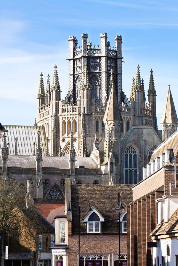 Ely katedra w pogodnym wiosna dniu fotografia royalty free