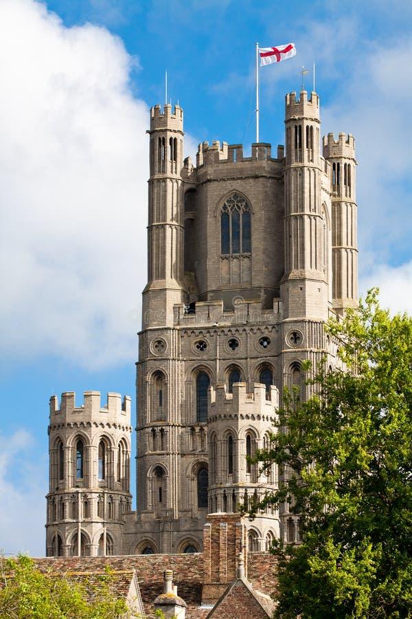 Ely katedra w pogodnym wiosna dniu fotografia stock