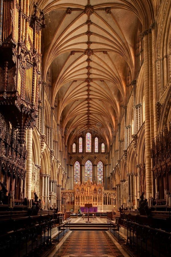 Ely Kathedraleinnenraum lizenzfreie stockfotos