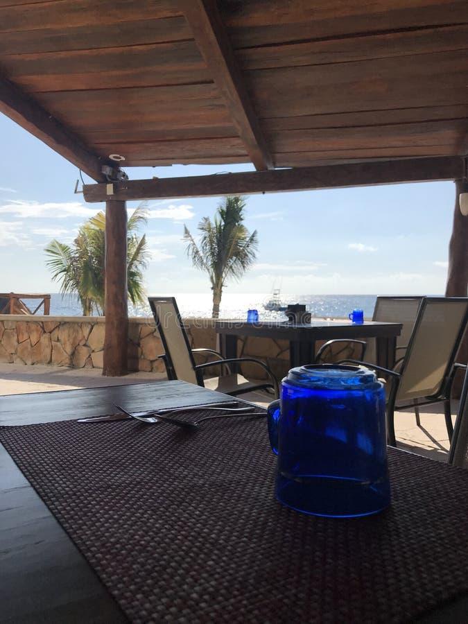 Em algum lugar em uma praia mexicana fotografia de stock