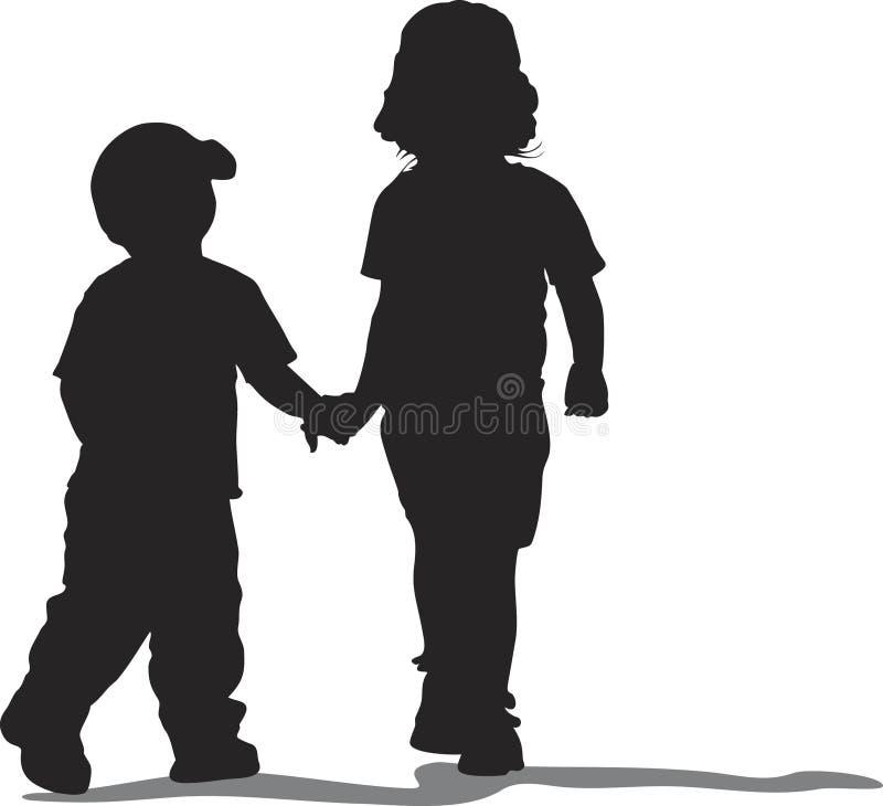 Em conjunto ilustração royalty free