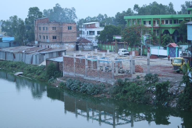 Em desenvolvimento área em Bangladesh fotografia de stock