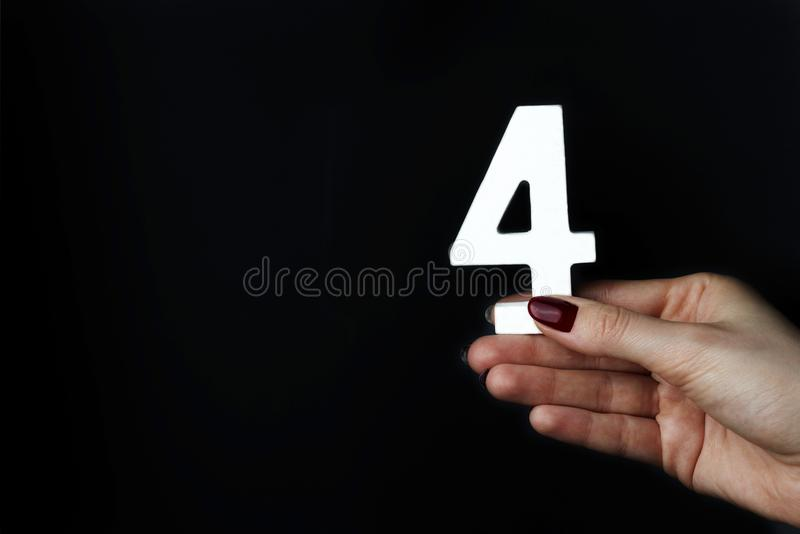 Em figura fêmea quatro das palmas imagem de stock royalty free