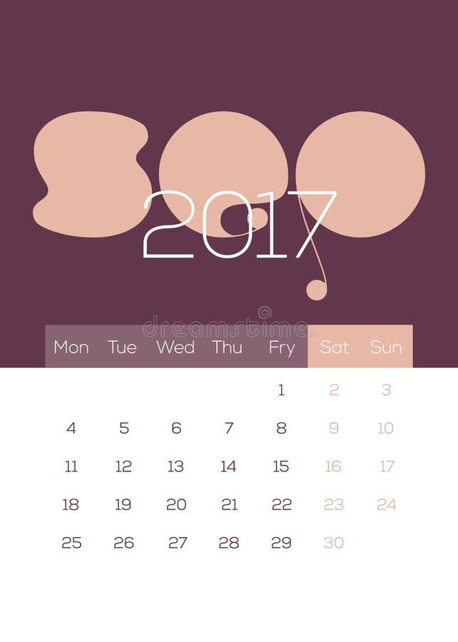 Em março de 2017 - calendário bonito, moderno, fresco, limpo e fresco fotos de stock