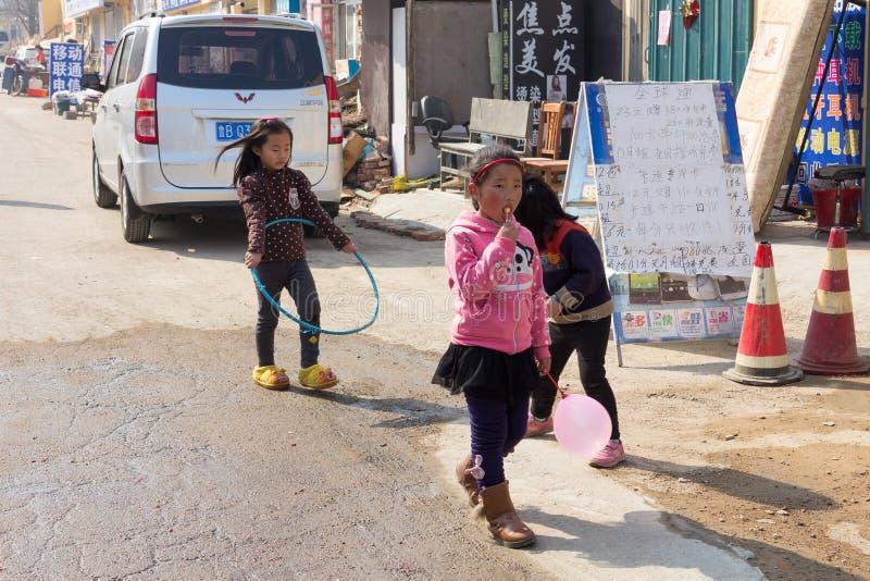 Em março de 2014 - Shandongtou, Qingdao, China fotografia de stock