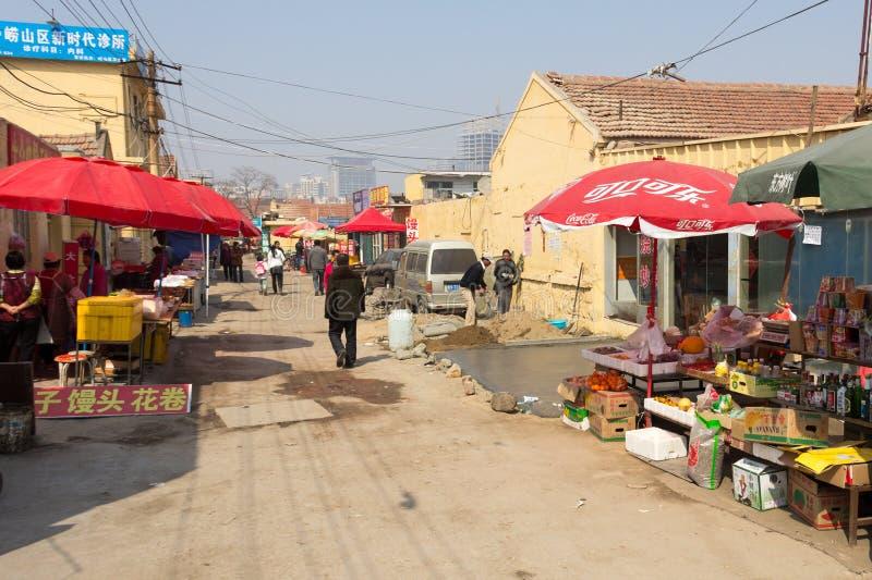 Em março de 2014 - Shandongtou, Qingdao, China foto de stock royalty free