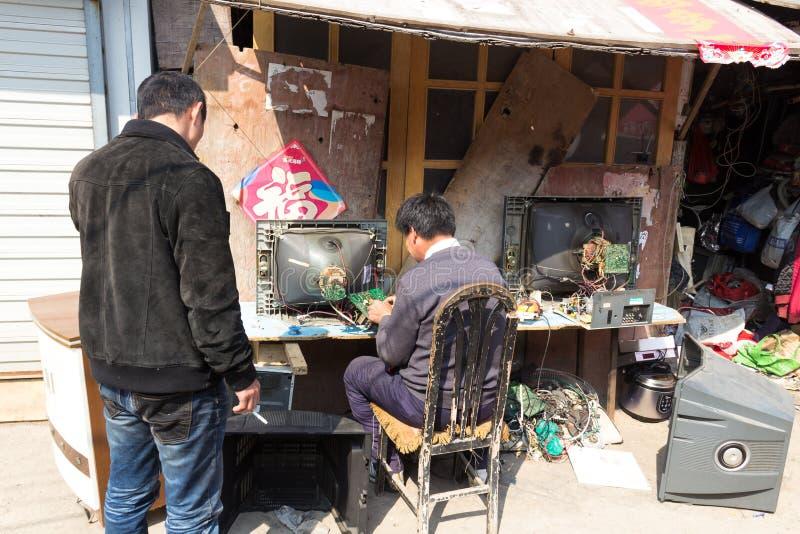 Em março de 2014 - Shandongtou, Qingdao, China fotos de stock royalty free
