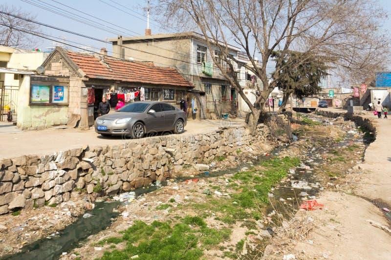 Em março de 2014 - Shandongtou, Qingdao, China imagem de stock