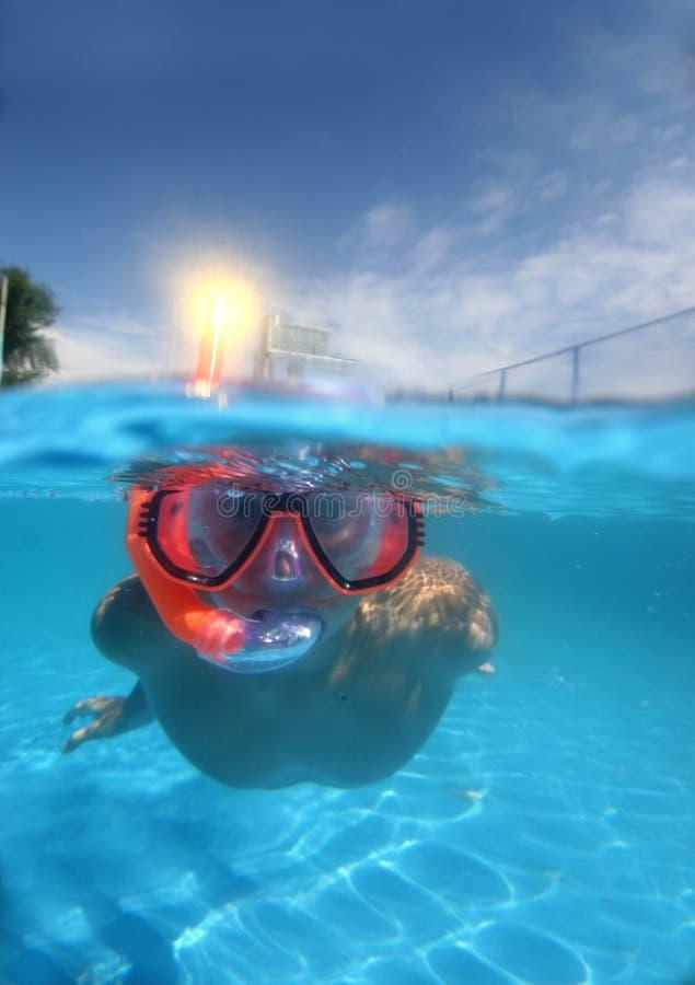 Em pool2 foto de stock