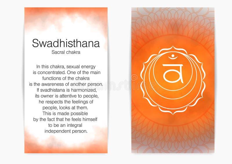Em segundo, chakra sacral - Swadhisthana ilustração do vetor