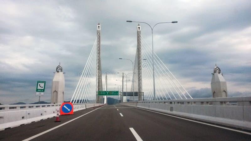 Em segundo ponte de Penang foto de stock