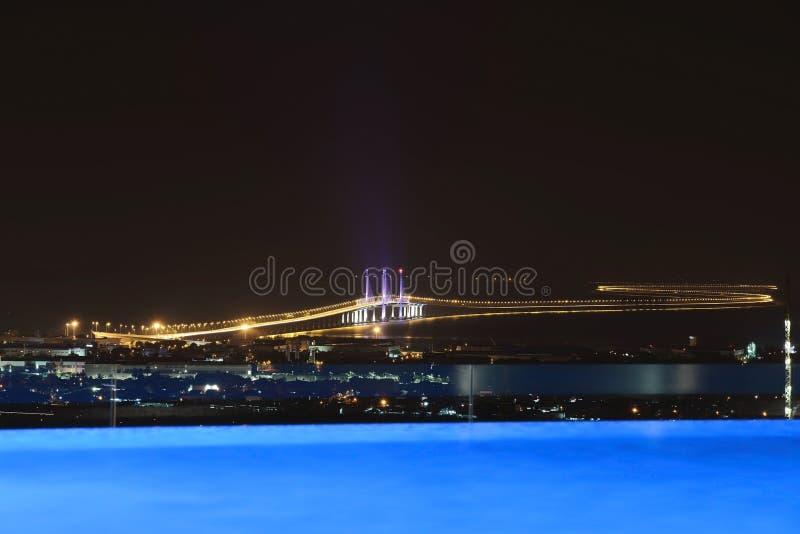 Em segundo ponte de Penang imagem de stock