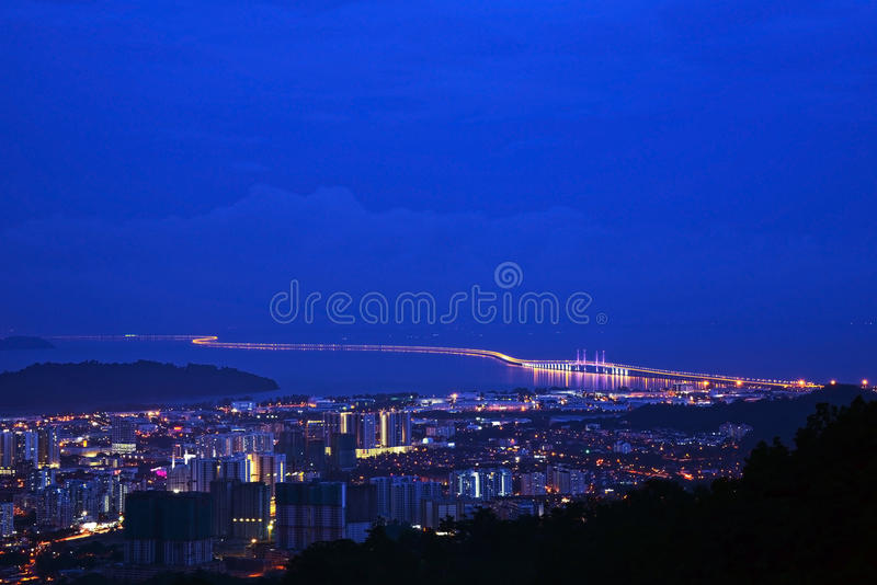 Em segundo ponte de Penang imagens de stock
