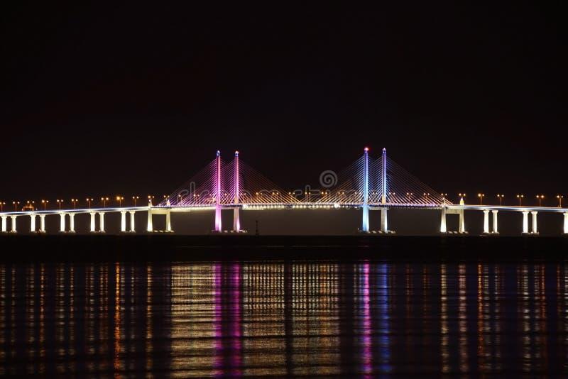Em segundo ponte de Penang imagem de stock royalty free