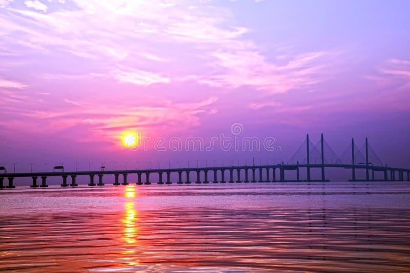 Em segundo ponte de Penang foto de stock royalty free