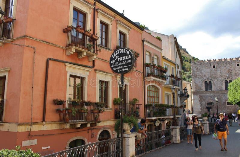 Em Taormina foto de stock royalty free
