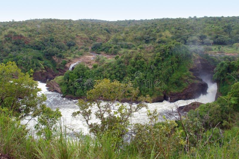 Em torno de Murchison cai em Uganda fotografia de stock